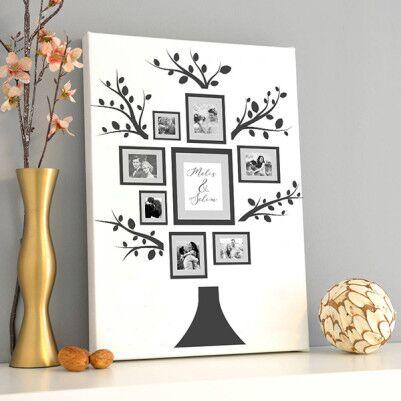 - Aşk Ağacımız Fotoğraflı Kanvas Tablo