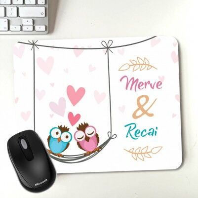 - Aşık Baykuşlar Sevgili Mousepadi