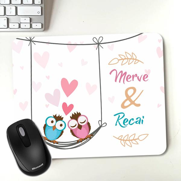 Aşık Baykuşlar Sevgili Mousepadi
