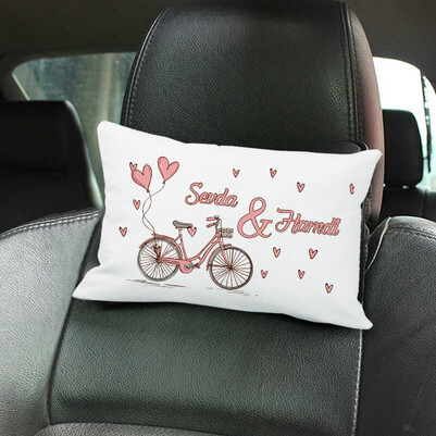 - Aşk Bisikleti İsimli Araç Koltuk Yastığı