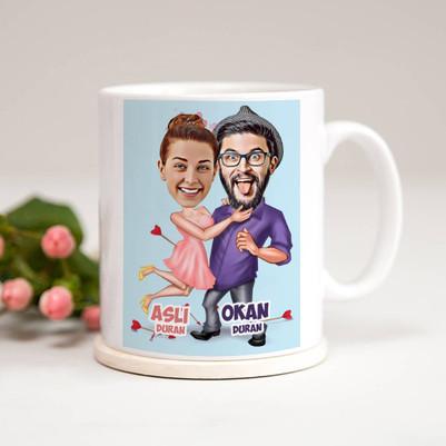 - Aşk Bize Benzer Karikatürlü Kupa Bardak