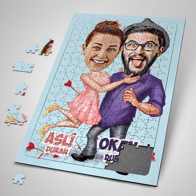 - Aşk Bize Benzer Karikatürlü Puzzle