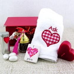 Aşk Meleği Sevgilime Hediye Sepeti - Thumbnail