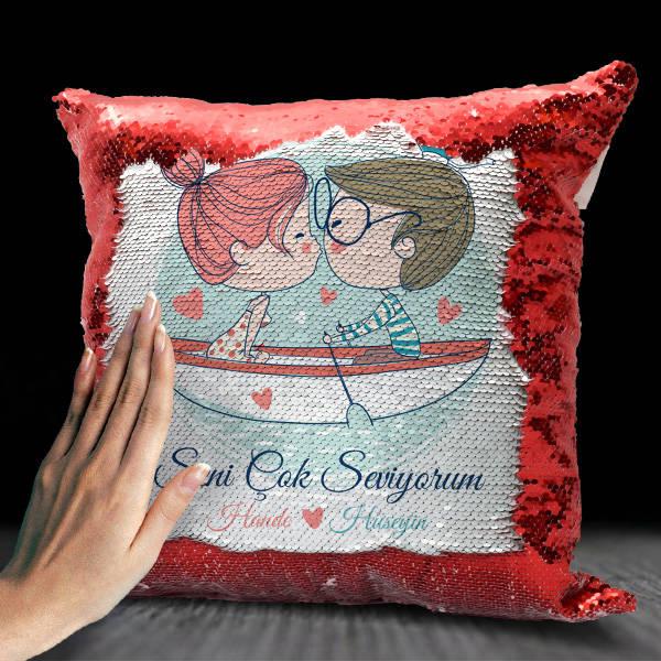 Aşk Sandalı Sevgililere Özel Sihirli Yastık