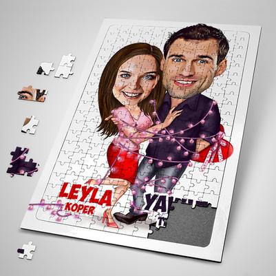 - Aşk Sarhoşu Karikatürlü Puzzle