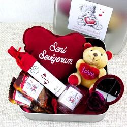 Aşk Seninle Güzel Hayatım Hediye Sepeti - Thumbnail