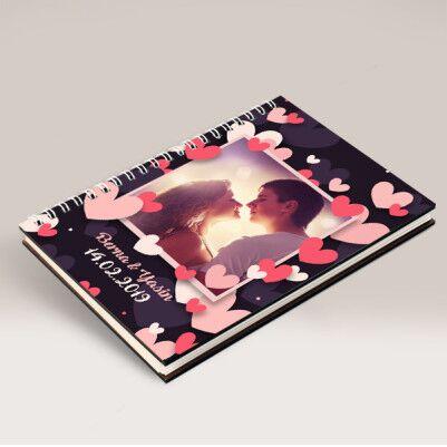 Aşk Yağmuru Fotoğraflı ve İsimli Sevgili Defteri - Thumbnail