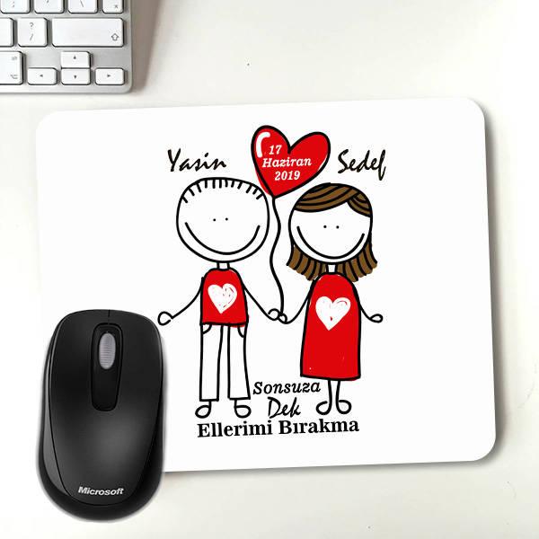 Aşka Kanatlanalım Kişiye Özel Mousepad