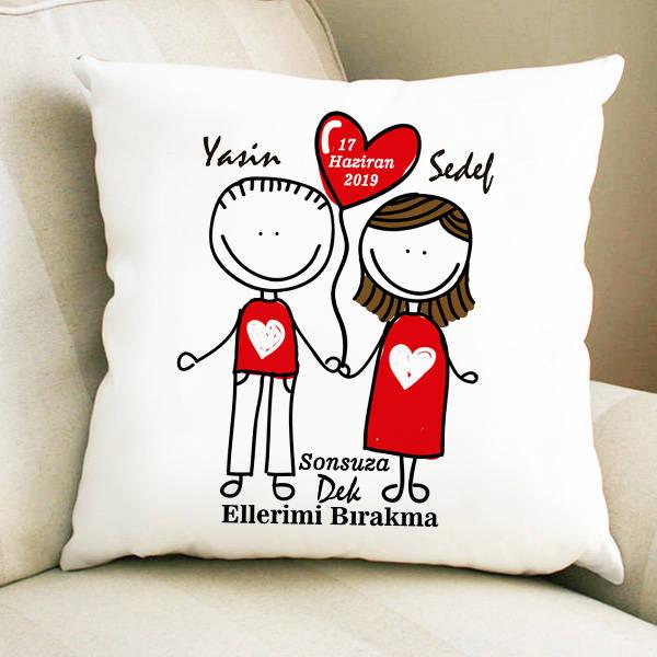 Aşka Kanatlanalım Sevgili Yastığı