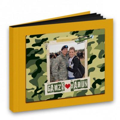 Asker Sevgiliye Özel Foto Kitap Albüm - Thumbnail