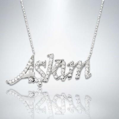 - Aşkım Yazılı Gümüş Kolye