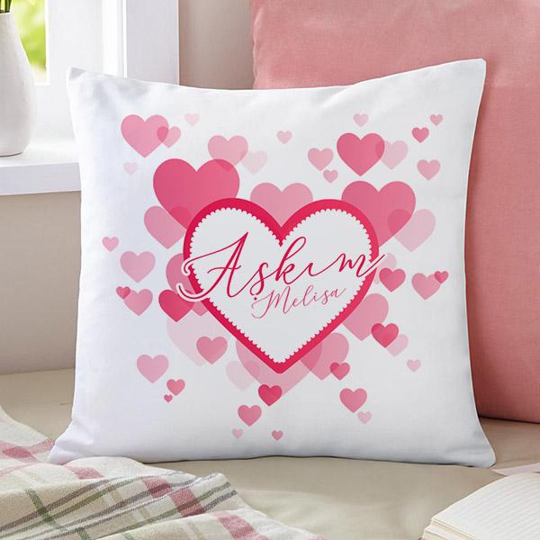 Aşkım Yazılı Yastık