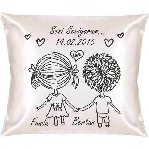 Aşkım Seni Çok Seviyorum Kare Yastık