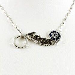 Aşkım Yazılı 925 Ayar Gümüş Kolye - Thumbnail