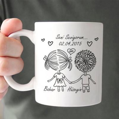 - Aşkıma Seni Seviyorum Kupa Bardak