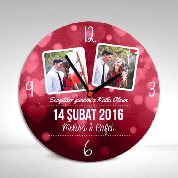 Aşkımıza Özel Sevgililer Günü Duvar Saati