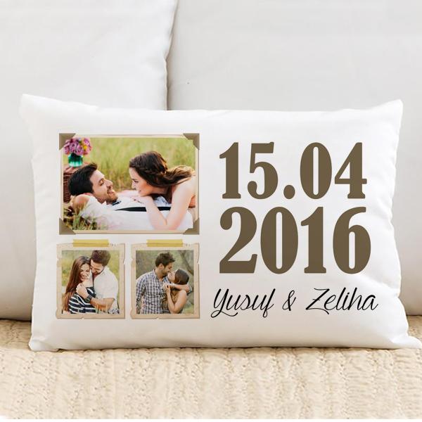 Aşkımızın Anısına Özel Fotoğraflı Yastık