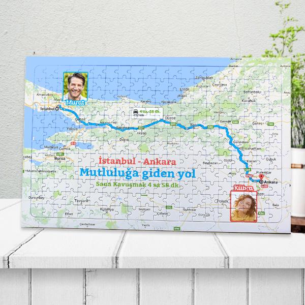 Aşkımızın Haritası Kişiye Özel Puzzle