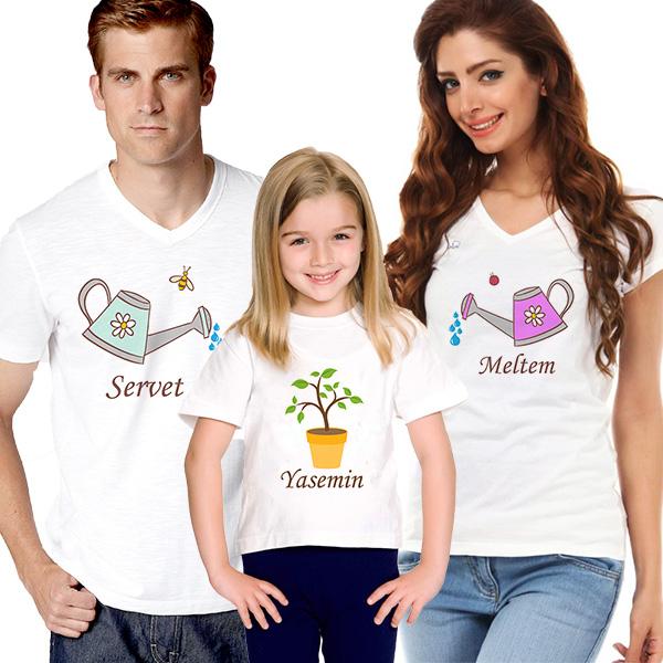 Aşkımızın Meyvesi 3'lü Aile Tişörtü