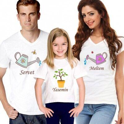 - Aşkımızın Meyvesi 3'lü Aile Tişörtü