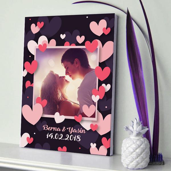 Aşkımızın Romantik Portresi Kanvas Tablo
