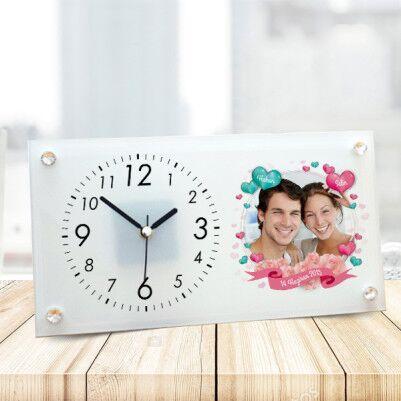 - Aşkın En Uyumlu Hali Cam Masa Saati