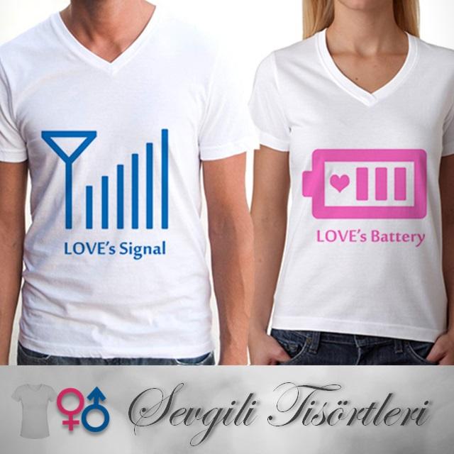 Aşkın Sinyali Sevgili Tişörtleri