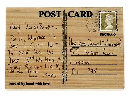 Aşkını Kazı - Ahşap Posta Kartı