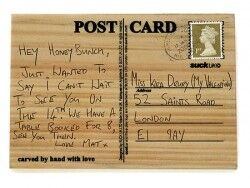 Aşkını Kazı - Ahşap Posta Kartı - Thumbnail