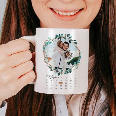 Aşkla Nice Yıl Dönümlerimize Sevgilim Kupa Bardak - Thumbnail