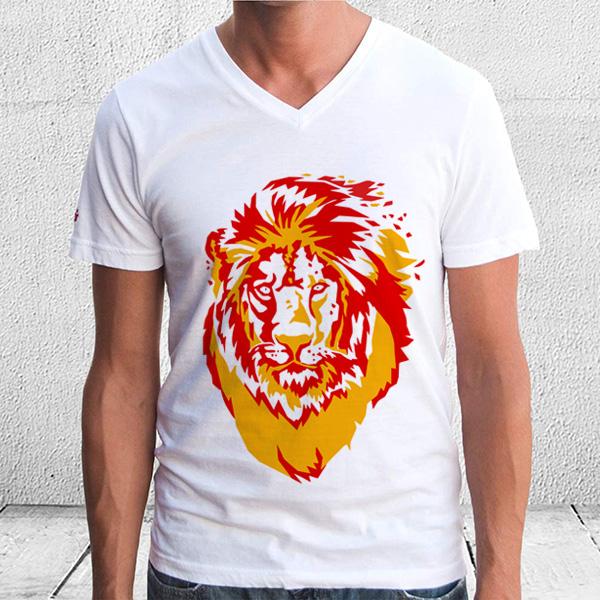Aslan Figürlü Erkek Tişörtü