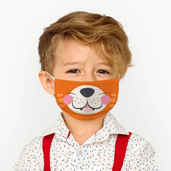 Aslan Kral Tasarımlı Çocuk Maskesi