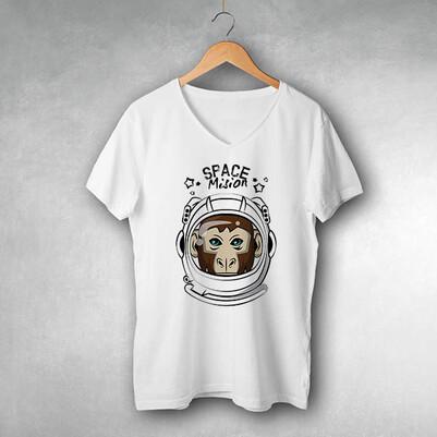 - Astronaut Monkey Tasarım Tişört