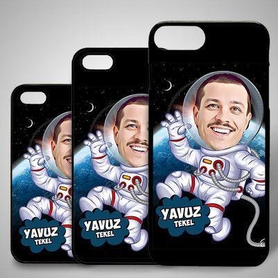- Astronot Karikatürlü Iphone Kapak