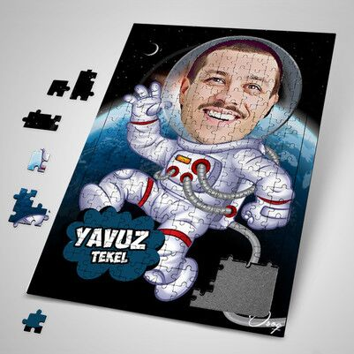 - Astronot Karikatürlü Puzzle
