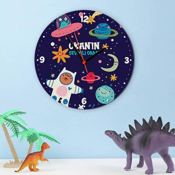 Astronot Olacağım Çocuk Duvar Saati