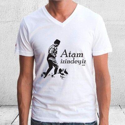 - ATAM İzindeyiz Erkek ve Bayan Tişörtü