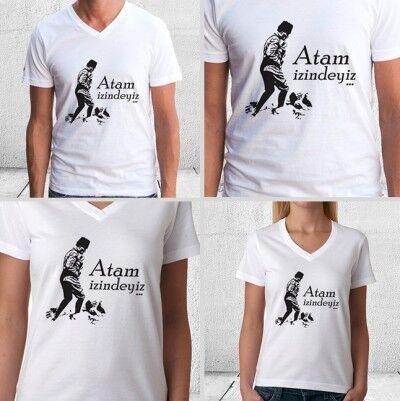 ATAM İzindeyiz Erkek ve Bayan Tişörtü - Thumbnail