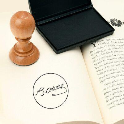 Atatürk İmzalı Kitap Mührü - Thumbnail