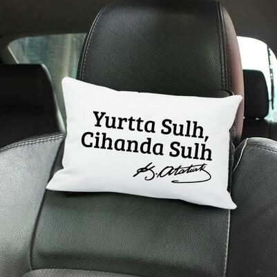 - Atatürk Özdeyişleri Araç Koltuk Yastığı