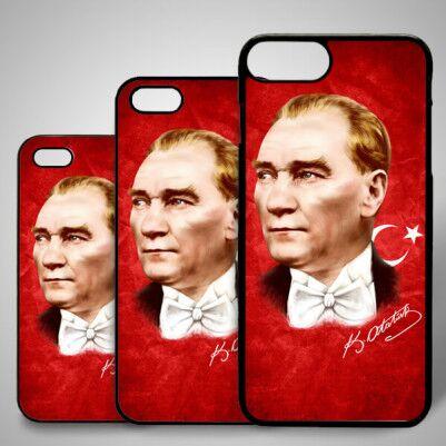 Atatürk Portresi iPhone Telefon kapağı - Thumbnail
