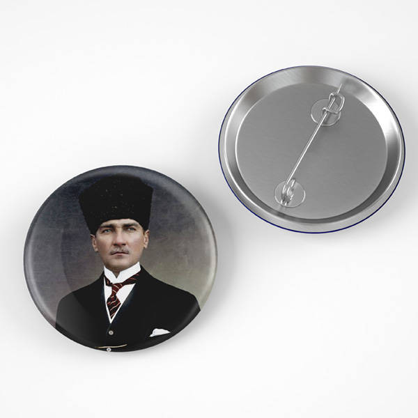 Atatürk Resimli Buton Rozet