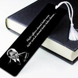 Atatürk Resimli Kişiye Özel Kitap Ayracı - Thumbnail