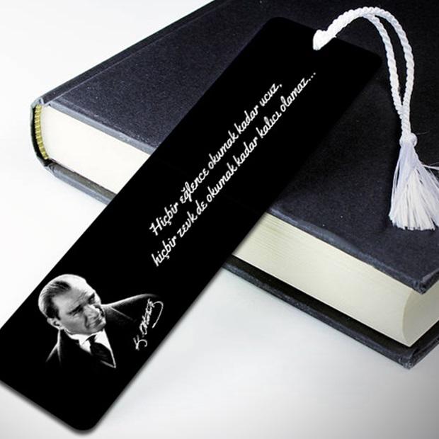 Atatürk Resimli Kişiye Özel Kitap Ayracı
