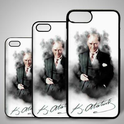 - Atatürk Resimli ve İmzalı iPhone Telefon Kapağı