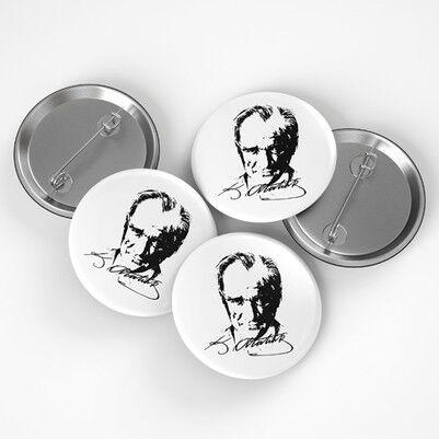- Atatürk Silueti Buton Rozet