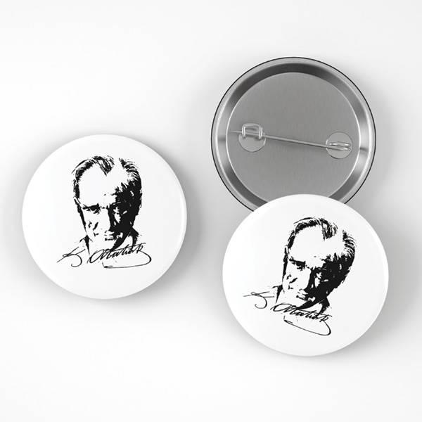 Atatürk Silueti Buton Rozet