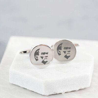 - Atatürk Simgeli Gömlek Kol Düğmesi