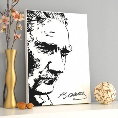 - Atatürk Temalı Dekoratif Kanvas Tablo