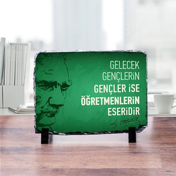 Atatürk Temalı Dekoratif Taş Süsü